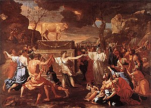 300px-Nicolas_Poussin_-_The_Adoration_of_the_Golden_Calf_-_WGA18293