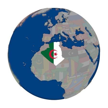 70657358-l-algérie-avec-le-drapeau-national-incorporé-sur-le-globe-politique-illustration-3d-isolée-sur-fond-bla
